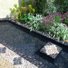 Water rill with pebbles