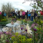 Public flock to see the garden, with co-designer Andrew Jordan