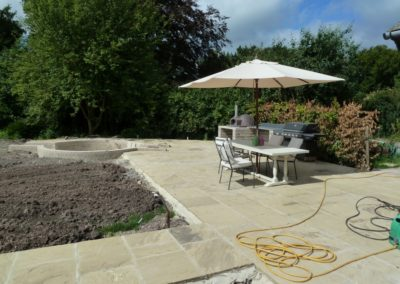 The build - Yorkstone paving